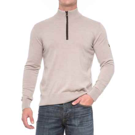 Dale of Norway Olav Sweater - Merino Wool, Zip Neck (For Men) in Beige - Closeouts