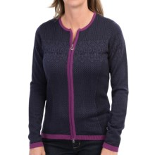 Dale of Norway Sigrid Jacket - Merino Wool (For Women) in Deep Purple - Closeouts