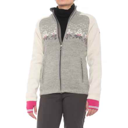 Dale of Norway Snetind Sweater Jacket (For Women) in Light Charcoal/Smoke/Off White - Closeouts