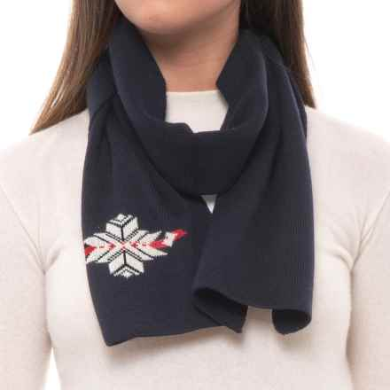 Dale of Norway Sochi Scarf - Merino Wool (For Women) in Navy/Off White - Closeouts