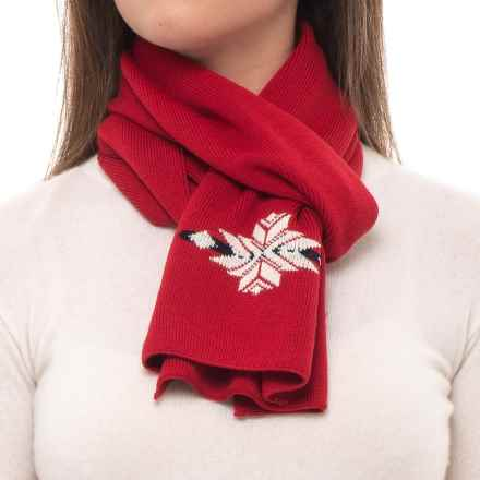 Dale of Norway Sochi Scarf - Merino Wool (For Women) in Raspberry/Off White - Closeouts