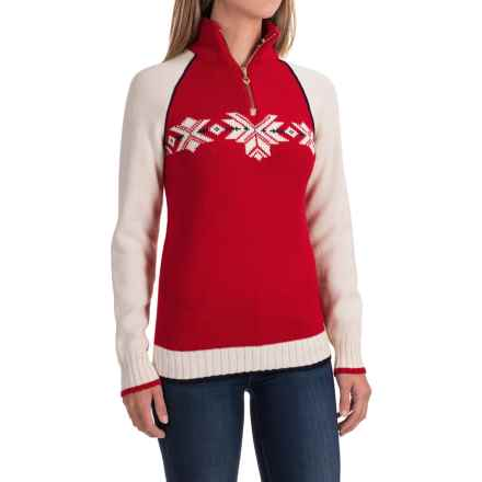 Dale of Norway Sochi Sweater - Wool (For Women) in Raspberry/Navy/Off White - Closeouts