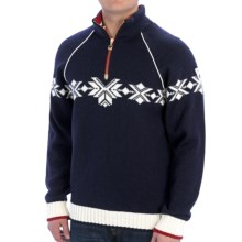 Dale of Norway Sochi Sweater - Wool, Zip Neck (For Men) in Blue/White - Closeouts