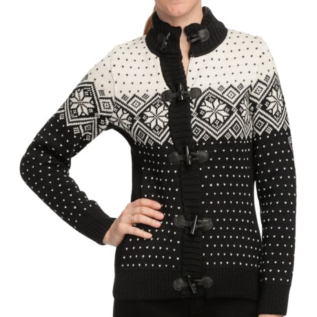 Dale of Norway Stjerne Sweater - Merino Wool (For Women) in Black/Off White