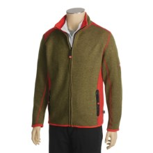 Dale of Norway Storebjorn Jacket - Merino Wool Fleece (For Men) in Melange Forrest Green/Fire - Closeouts