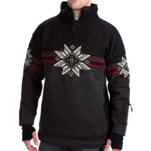 Dale of Norway Storetind Sweater - Wool, Zip Neck (For Men) in Charcoal/Black/Rasperbery - Closeouts