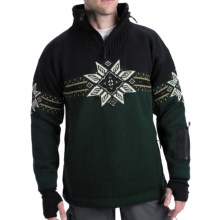 Dale of Norway Storetind Sweater - Wool, Zip Neck (For Men) in Green - Closeouts