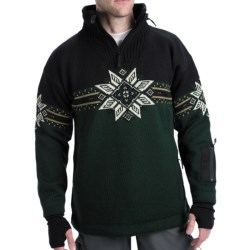 Dale of Norway Storetind Sweater - Wool, Zip Neck (For Men) in Green