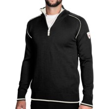 Dale of Norway Trysil Pullover Sweater - Pure New Wool (For Men) in Black/Off White - Closeouts