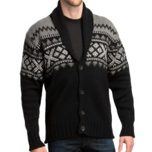 Dale of Norway Valle Cardigan Sweater - New Wool (For Men) in Black - Closeouts