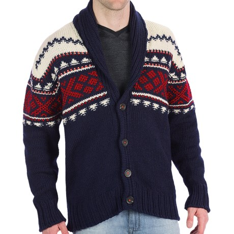 Dale of Norway Valle Cardigan Sweater - New Wool (For Men) in Black
