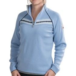 Dale of Norway Viking Sweater - Merino Wool, Zip Neck (For Women) in Glacier/Off White/Nacht
