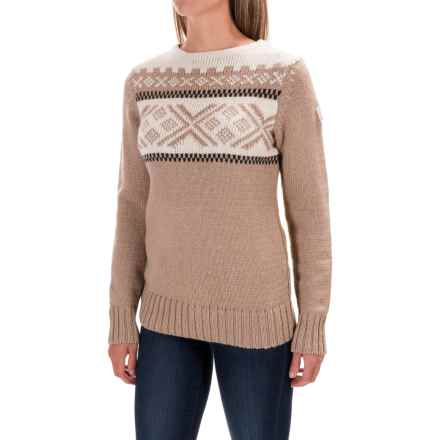 Dale of Norway Voss Sweater - Merino Wool (For Women) in Sand/Dark Charcoal/Off White - Closeouts