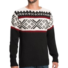 Dale of Norway Voss Sweater - Wool (For Men) in Black/Off White - Closeouts