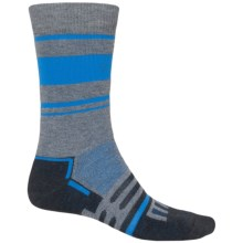 Dalgren MultiPass Midweight Socks - Merino Wool, Crew (For Men) in Charcoal/Blue Stripe - 2nds