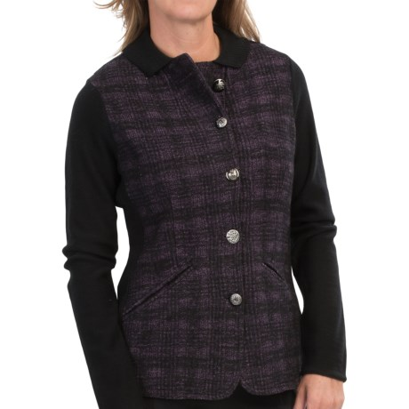 DAMASK Merino Cotton Plaid Jacket (For Women)