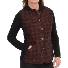 DAMASK Merino-Cotton Plaid Jacket (For Women) in Rosewood/Black - Closeouts