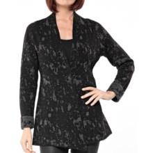 DAMASK Splatter Cardigan Sweater - Merino Wool-Cotton (For Women) in Charcoal/Black - Closeouts