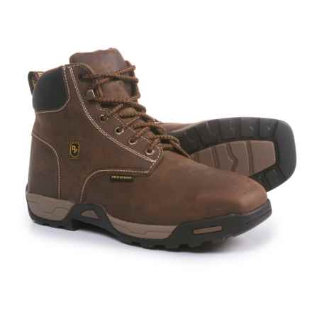 "Dan Post 6"" Cabot Logger Work Boots - Steel Safety Toe, Waterproof, Leather (For Men) in Tan - Closeouts"