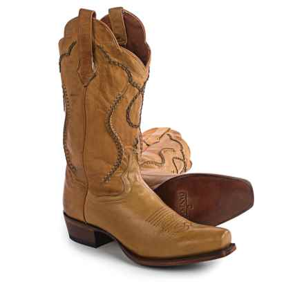 "Dan Post Albany Palomino Cowboy Boots - 13"", Leather (For Men) in Palomino - Closeouts"