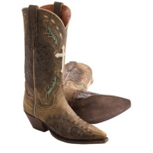 Dan Post Anthem Cross Cowboy Boots - Leather,  J-Toe (For Women) in Tan - Closeouts