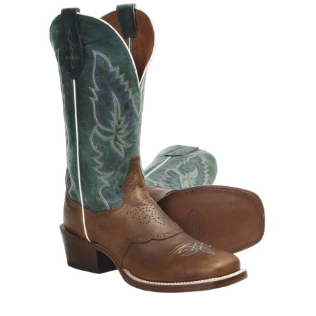 Dan Post Bannon Cowboy Certified Boots - Broad-Square Toe (For Men) in Saddle