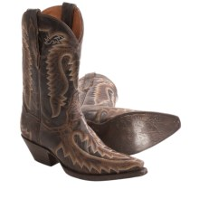 "Dan Post Chococat Cowboy Boots - 11"", Snip Toe (For Women) in Dark Brown - Closeouts"