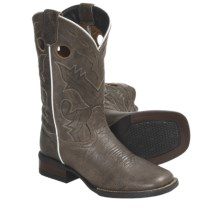 Dan Post Classic Cowboy Boots - Leather, Square Toe (For Youth Boys and Girls) in Taupe - Closeouts