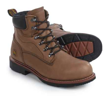 "Dan Post Crusher 7"" Work Boots - Leather, Steel Toe (For Men) in Walnut - Closeouts"