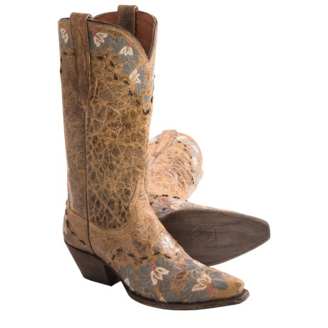 Dan Post DaisyBlue Cowboy Boots Leather, Snip Toe (For Women)