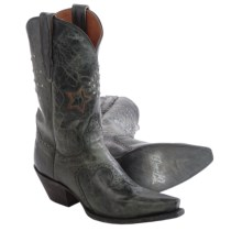 Dan Post Dallas Star Cowboy Boots - Leather, Snip Toe (For Women) in Black - Closeouts