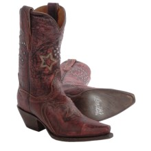 Dan Post Dallas Star Cowboy Boots - Leather, Snip Toe (For Women) in Red - Closeouts