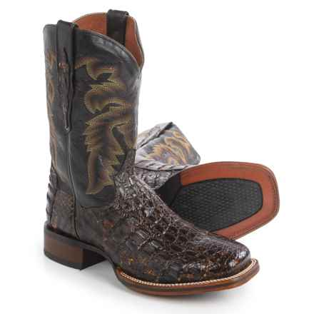 "Dan Post Everglades Sunset Caiman Cowboy Boots - 11"", Square Toe (For Men) in Sunset - Closeouts"