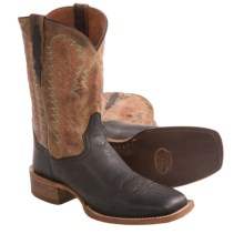Dan Post Flagger Cowboy Boots - Square Toe (For Men) in Black/Sand - Closeouts