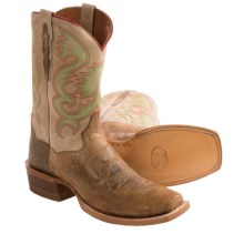 Dan Post Free Hand Cowboy Boots - Leather, Square Toe (For Men) in Tan/Natural - Closeouts