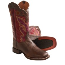 Dan Post Getaway Cowboy Boots - Square Toe (For Men) in Red/Chestnut - Closeouts