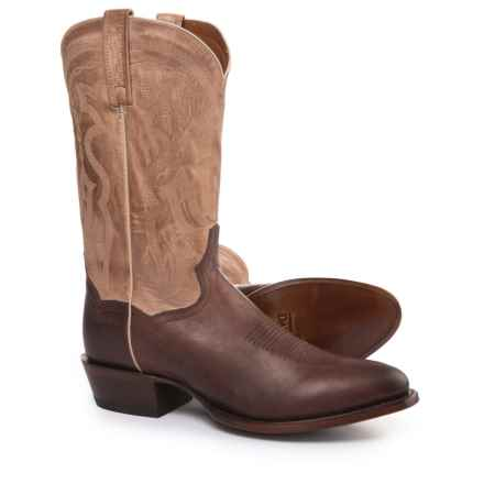"Dan Post Greer Cowboy Boots - 12"" (For Men) in Cognac/Tan - Closeouts"