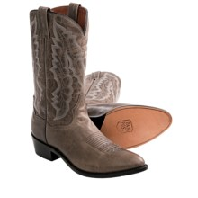 Dan Post Hartley Cowboy Boots - Leather, R-Toe (For Men) in Charcoal - Closeouts