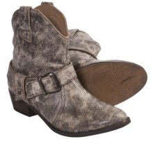 Dan Post Hitchiker Short Western Boots - Leather (For Women) in Stone - Closeouts