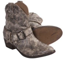 Dan Post Hitchiker Short Western Boots - Leather (For Women) in Stone