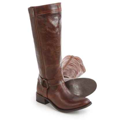 "Dan Post Hot Ticket Harness Zip Cowboy Boots - 15"", Round Toe (For Women) in Rust - Closeouts"