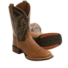 Dan Post Jerome Cowboy Boots - Leather, Square Toe (For Men) in Brownstone/Black - Closeouts