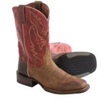 Dan Post Matheson Cowboy Boots - Leather, Square Toe (For Men) in Medium Brown/Red - Closeouts