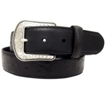 Dan Post Ostrich Leather Belt (For Men) in Black - Closeouts