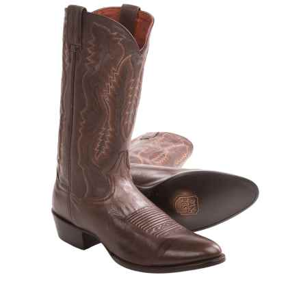 Dan Post Sabine Cowboy Boots - R-Toe (For Men) in Chocolate - Closeouts
