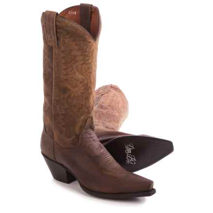 "Dan Post Santa Rosa Cowboy Boots - 12"", Snip Toe (For Women) in Bay Dirty Bull Kid - Closeouts"