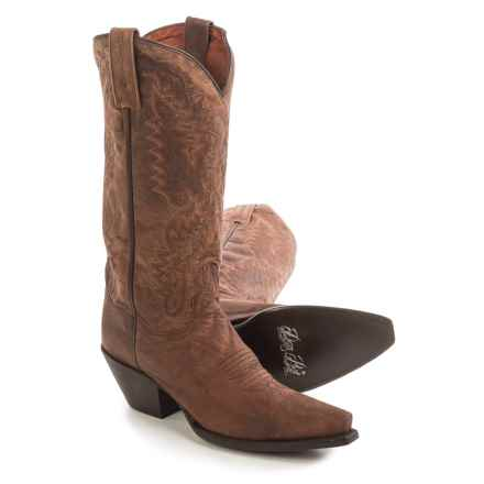 "Dan Post Santa Rosa Cowboy Boots - 13"", Snip Toe (For Women) in Bay Dirty Bull Kid - Closeouts"