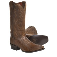 "Dan Post Seattle Ostrich Leg Cowboy Boots - 13"", Square Toe (For Men) in Bay Apache - Closeouts"