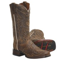 "Dan Post Sidewinder Broad Cowboy Boots - 12"", Square Toe (For Women) in Brown - Closeouts"