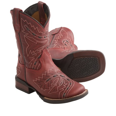 Dan Post Sidewinder Cowboy Boots - Leather, Round Toe (For Kids and Youth) in Red